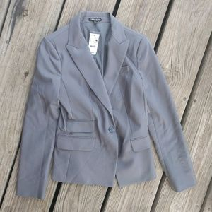 Express Grey The Hourglass Suit Jacket Size 4